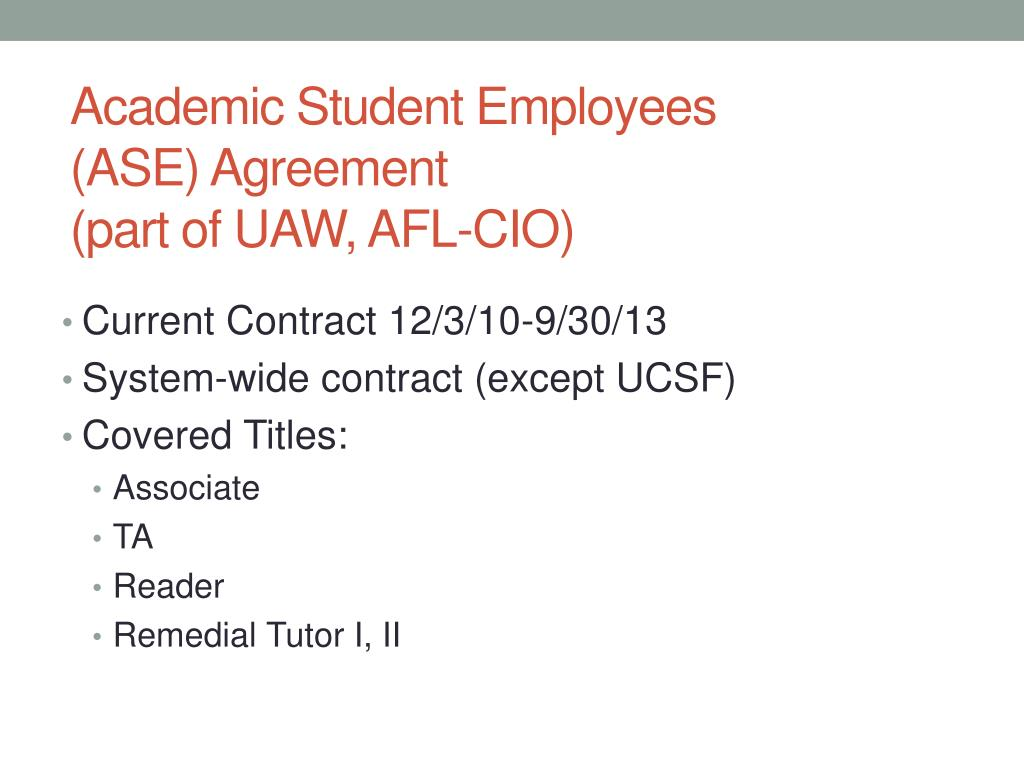 Academic Student Employees