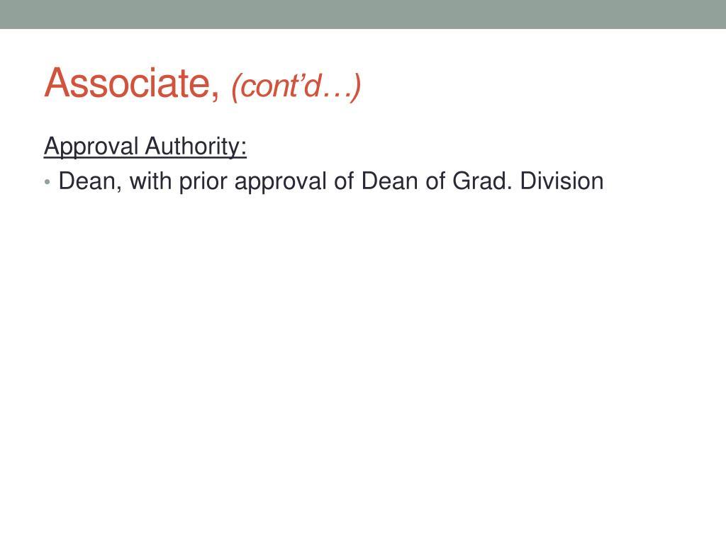 Associate,