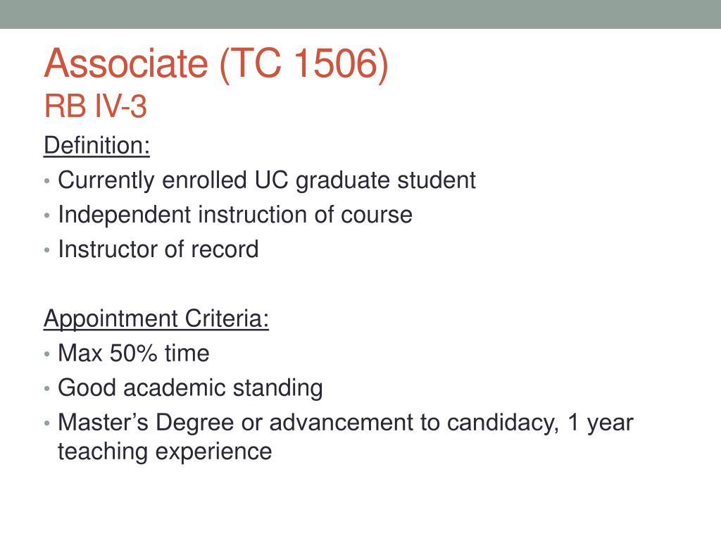 Associate (TC 1506)