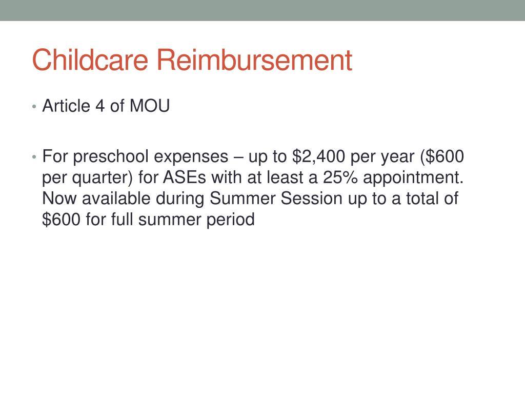 Childcare Reimbursement
