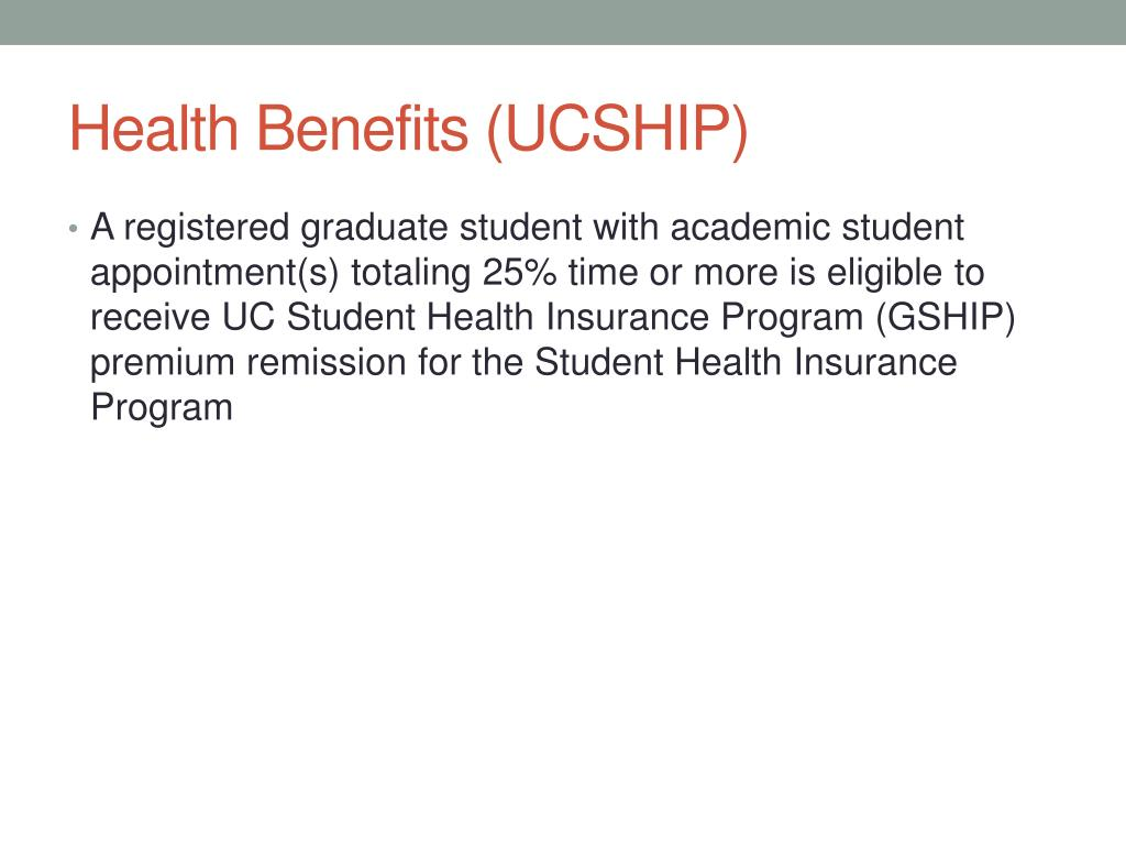 Health Benefits (UCSHIP)