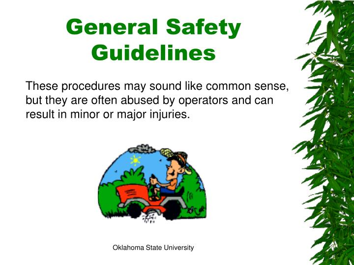 General Safety Guidelines