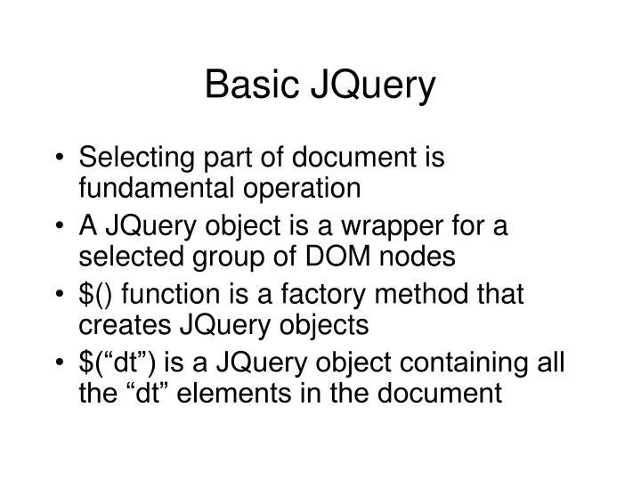 Basic JQuery