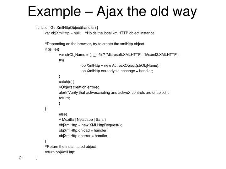 function GetXmlHttpObject(handler) {