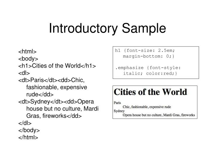 Introductory Sample