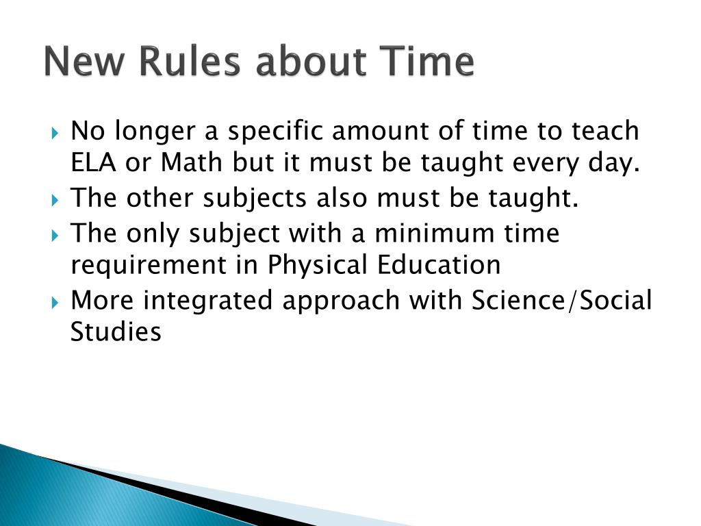 New Rules about Time