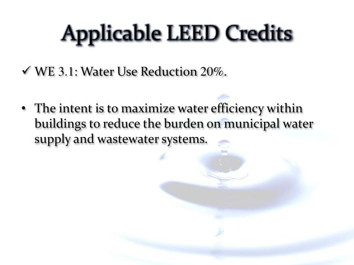 Applicable LEED Credits