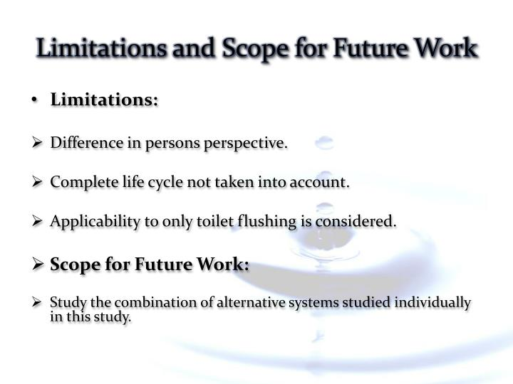 Limitations and Scope for Future Work