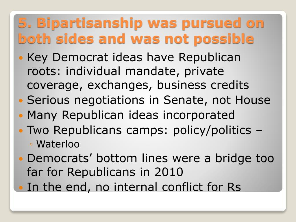 Key Democrat ideas have Republican roots: individual mandate, private coverage, exchanges, business credits