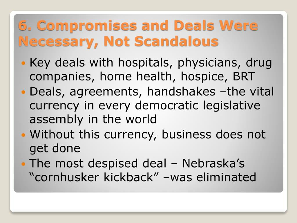 Key deals with hospitals, physicians, drug companies, home health, hospice, BRT
