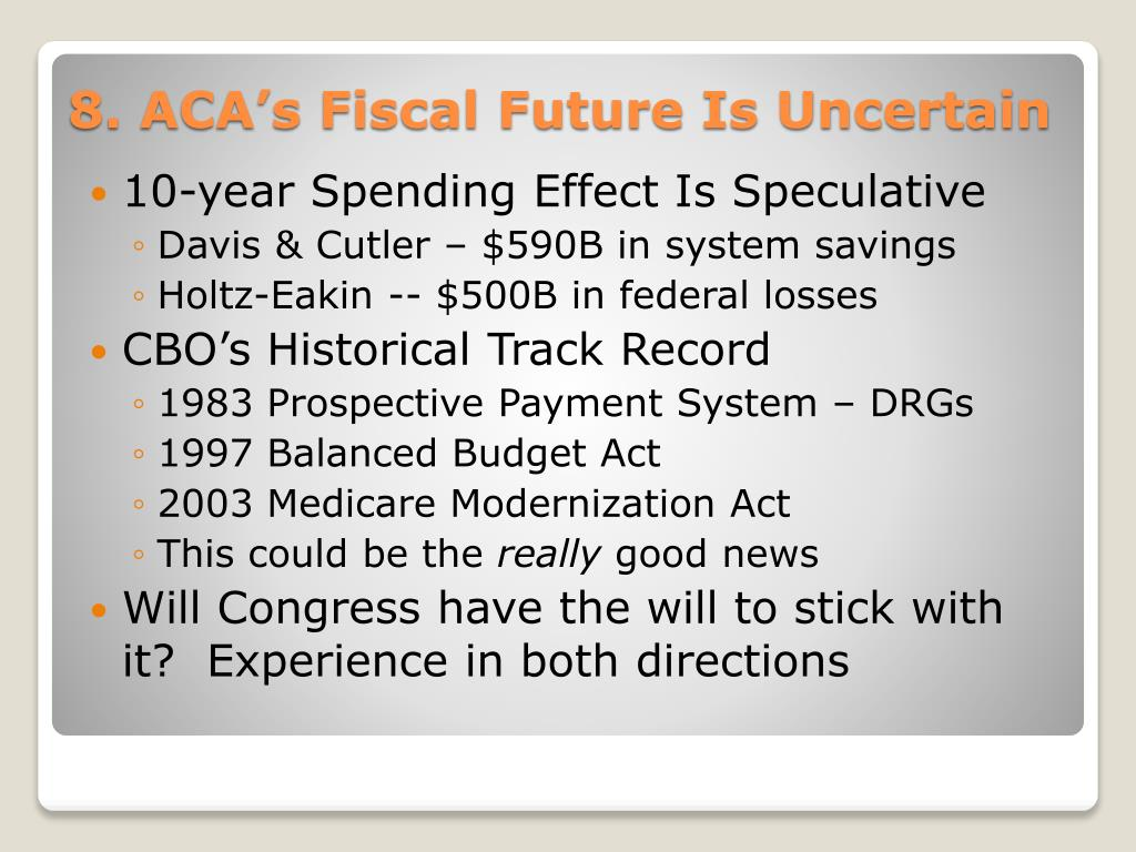 10-year Spending Effect Is Speculative