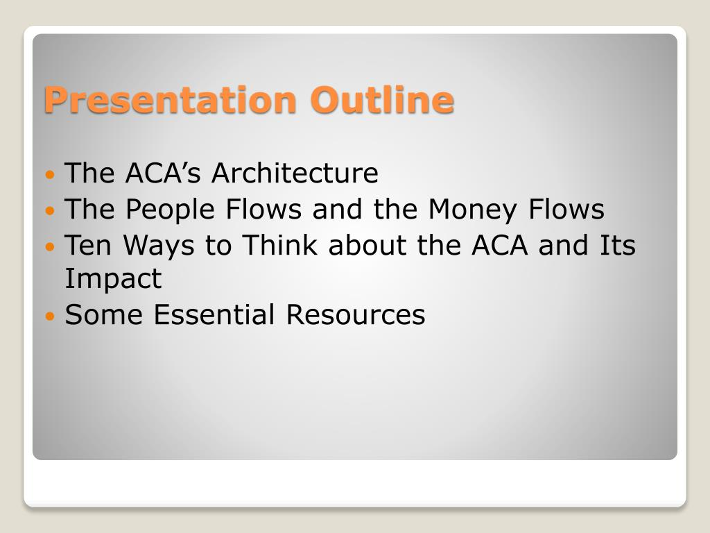 The ACA's Architecture