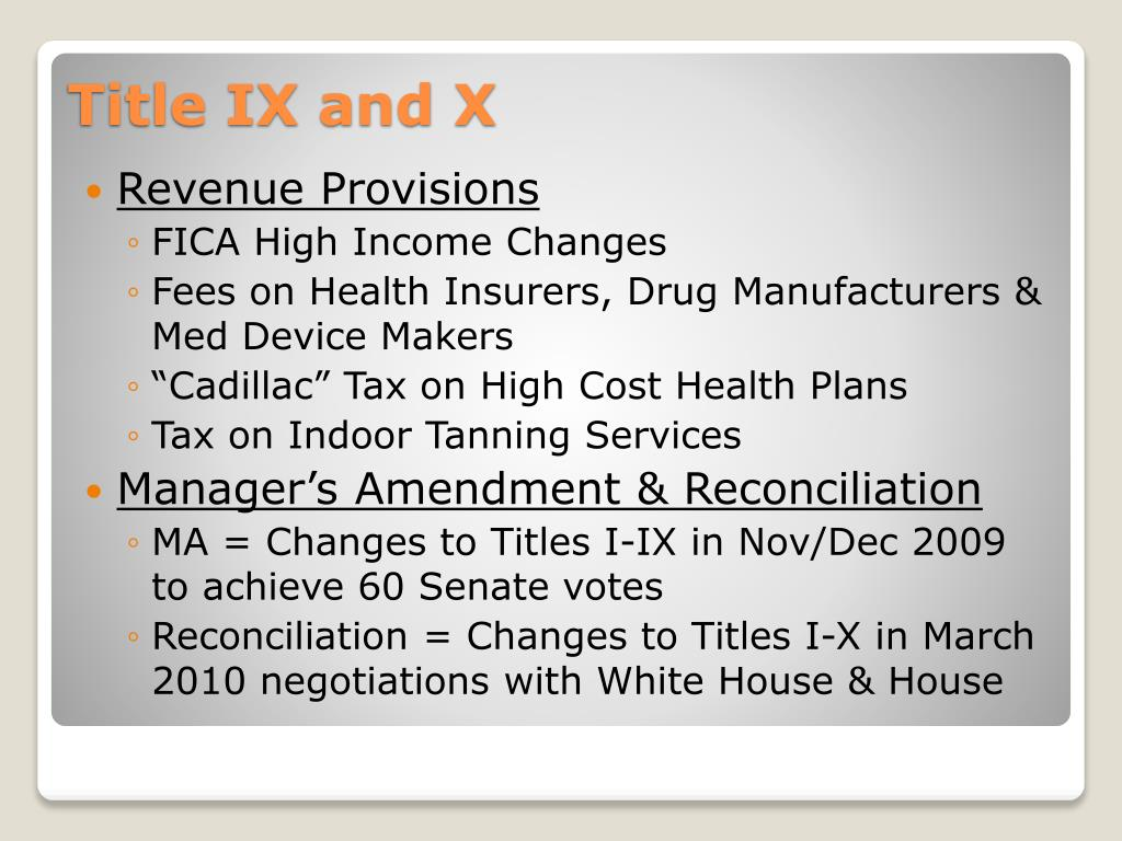 Revenue Provisions