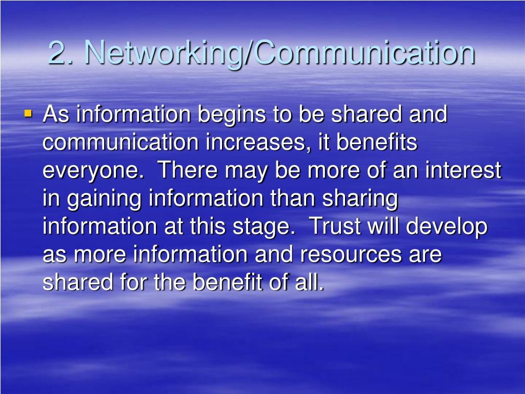 2. Networking/Communication