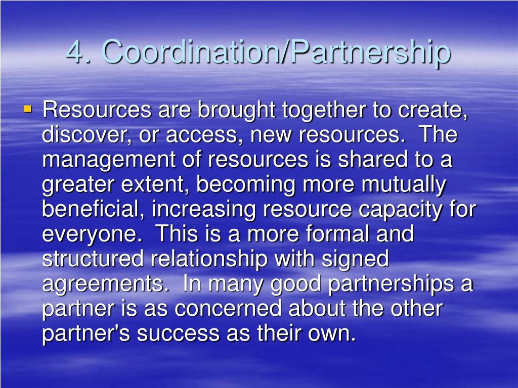 4. Coordination/Partnership