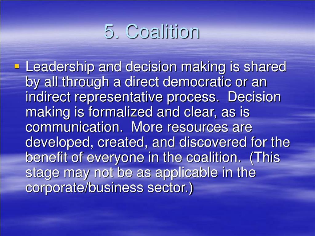 5. Coalition