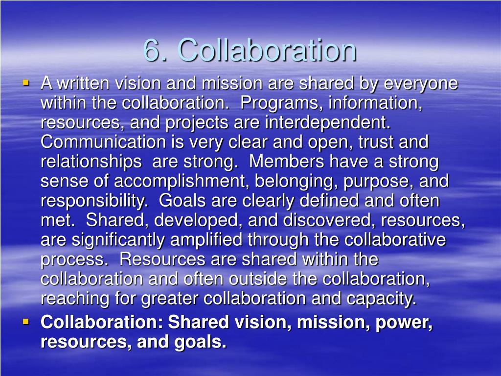 6. Collaboration