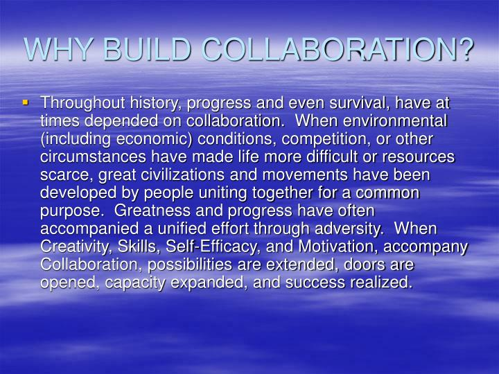 Why build collaboration