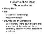 hazards of air mass thunderstorms
