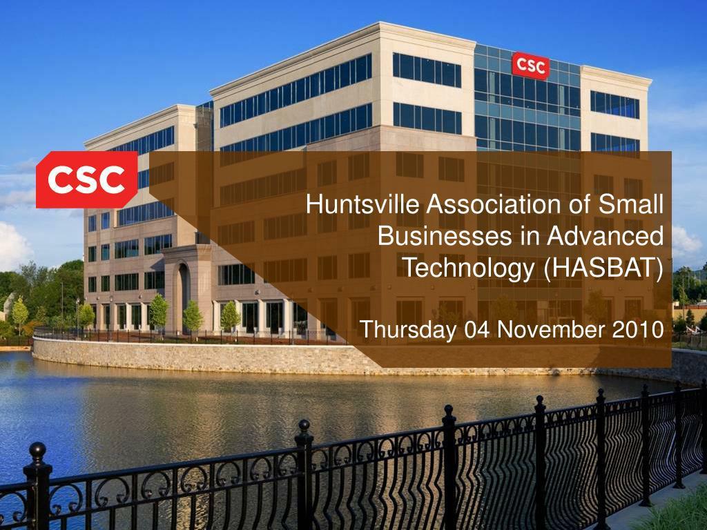 huntsville association of small businesses in advanced technology hasbat thursday 04 november 2010