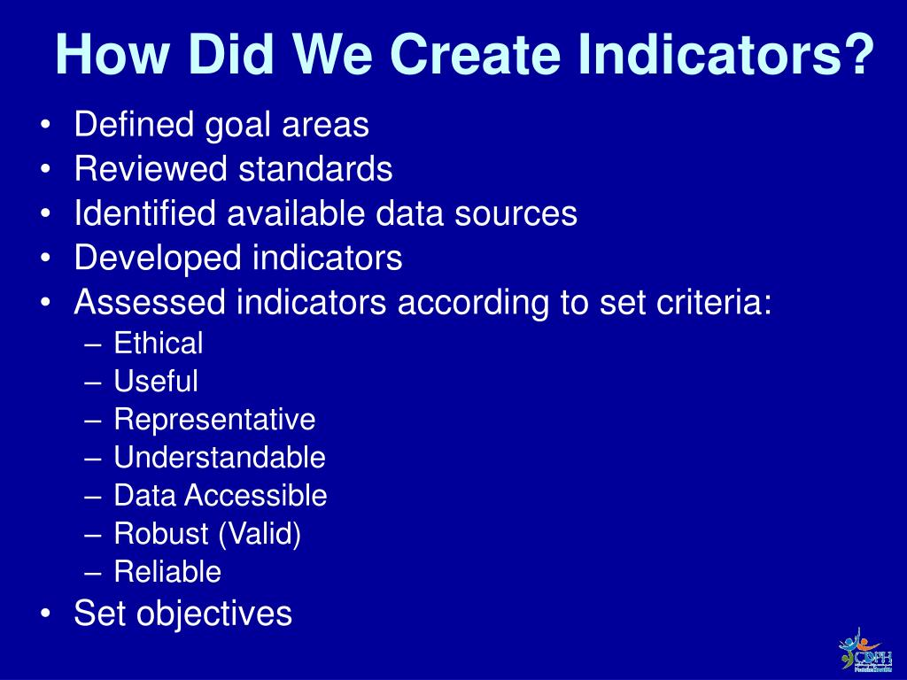 How Did We Create Indicators?