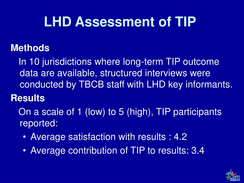LHD Assessment of TIP