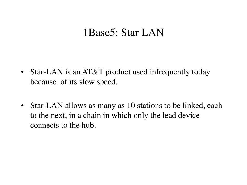 1Base5: Star LAN