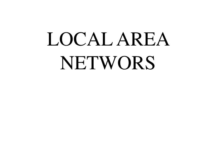local area networs n.