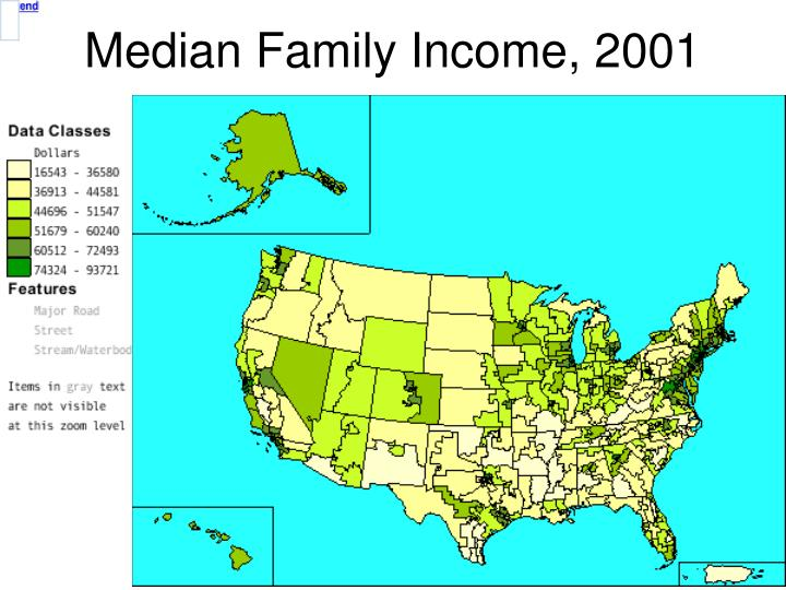 Median Family Income, 2001
