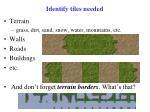 identify tiles needed