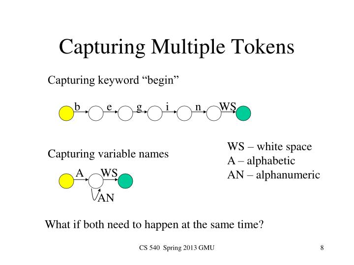 Capturing Multiple Tokens
