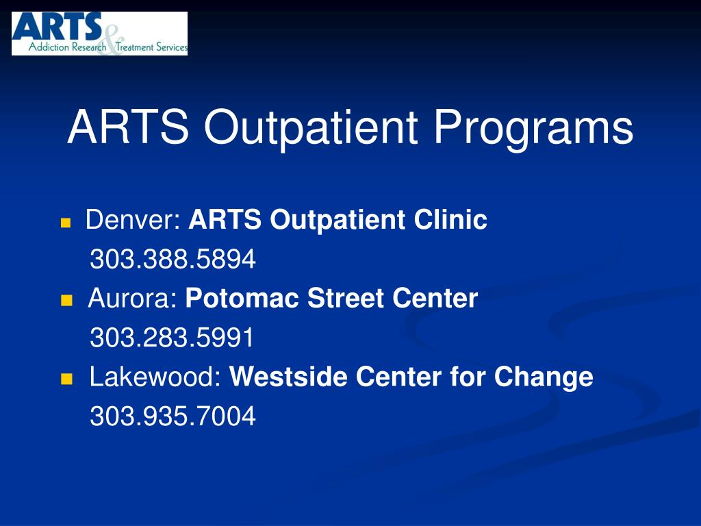 ARTS Outpatient Programs
