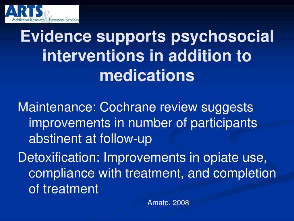 Evidence supports psychosocial interventions in addition to medications