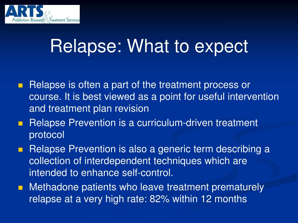 Relapse: What to expect