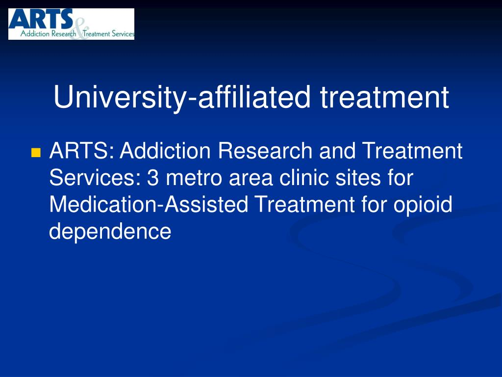 University-affiliated treatment