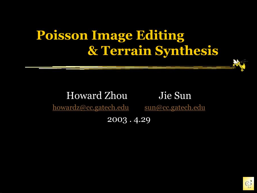 poisson image editing terrain synthesis l.