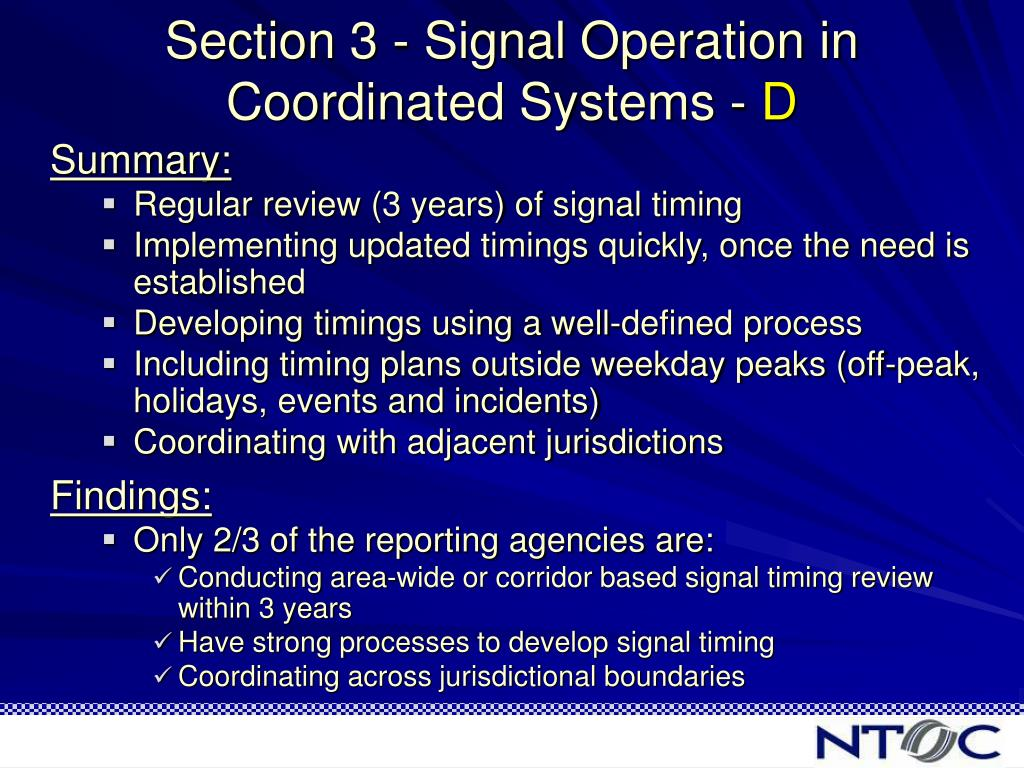 Section 3 - Signal Operation in Coordinated Systems -
