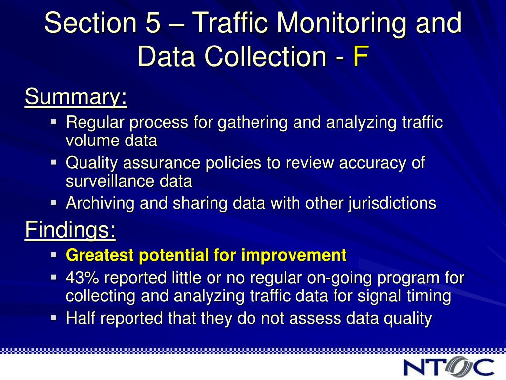 Section 5 – Traffic Monitoring and Data Collection -