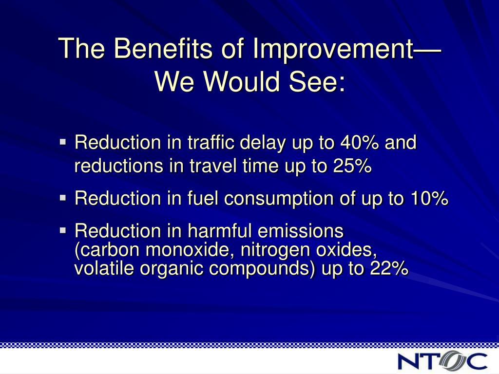 The Benefits of Improvement—
