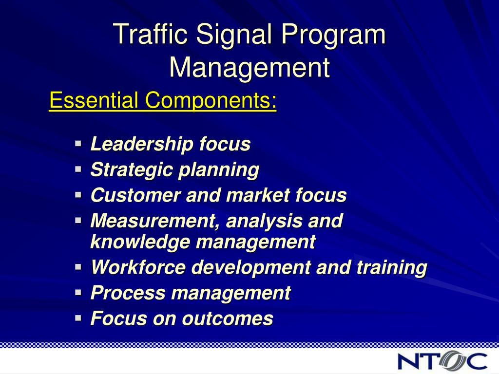 Traffic Signal Program Management