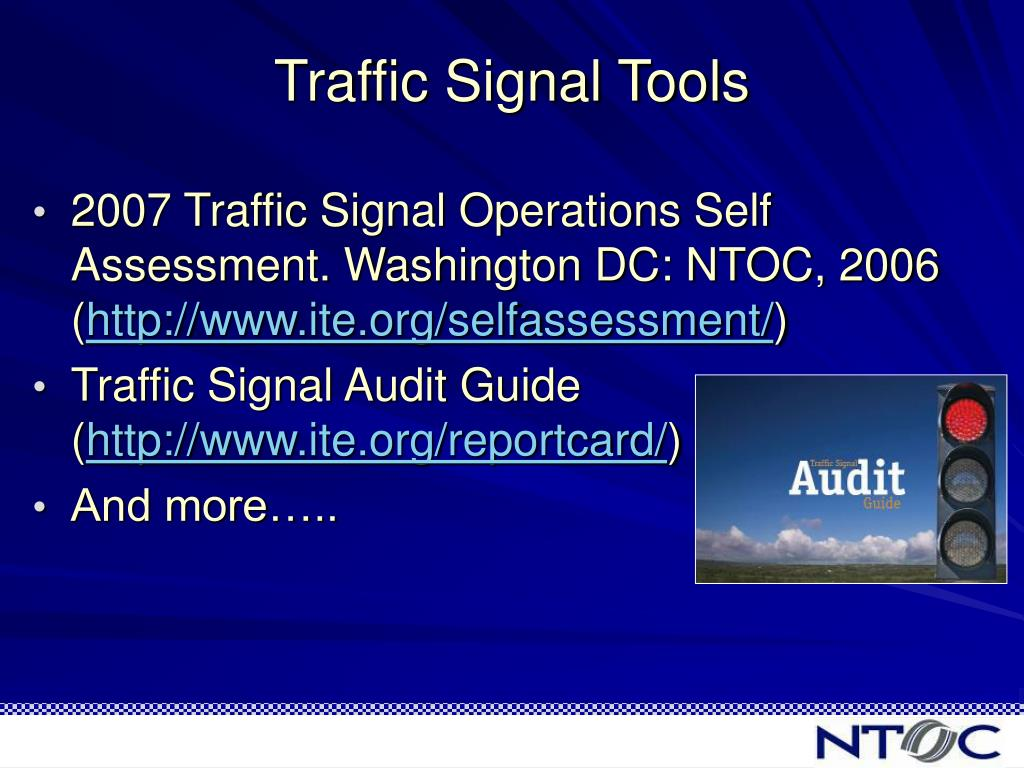 Traffic Signal Tools