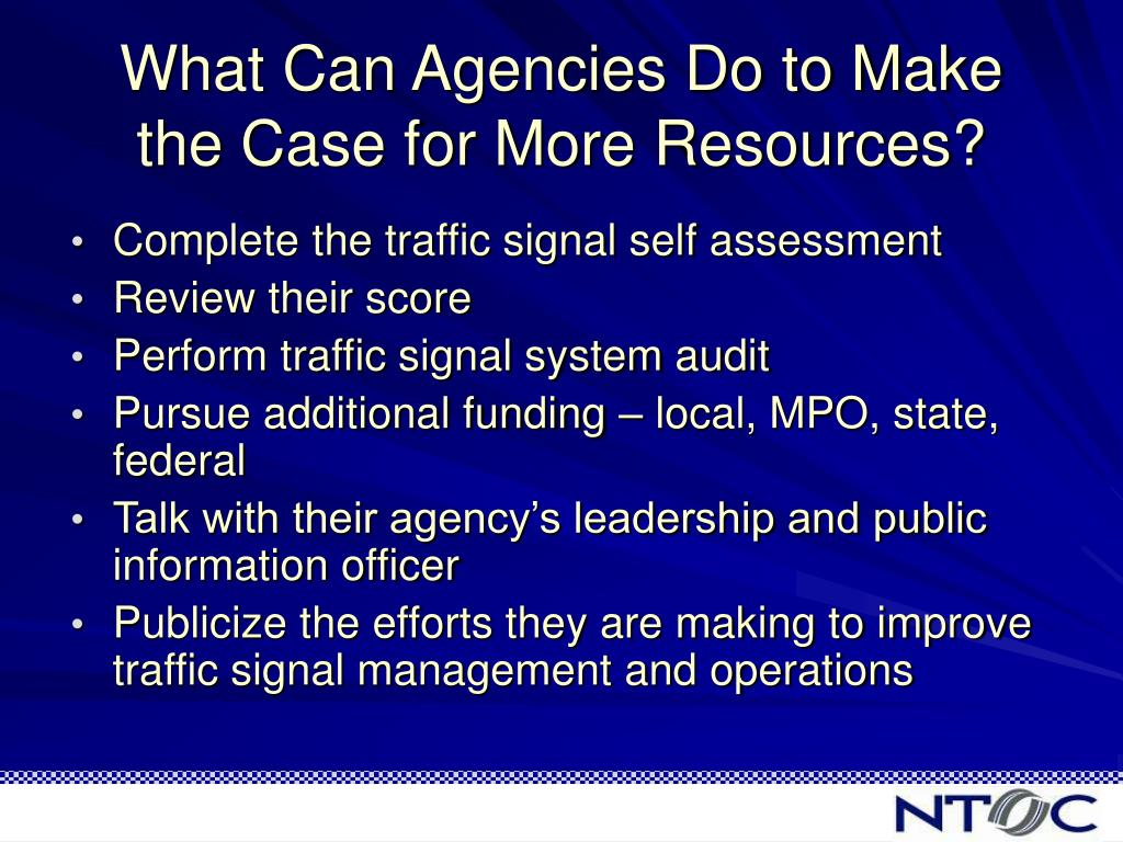 What Can Agencies Do to Make the Case for More Resources?