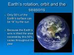 earth s rotation orbit and the seasons