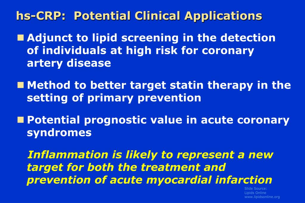 hs-CRP:  Potential Clinical Applications