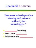 received knowers