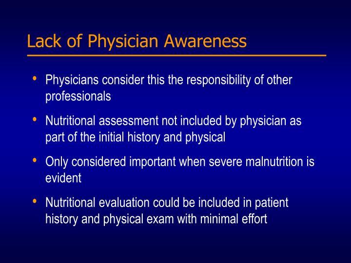 Lack of Physician Awareness