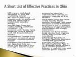 a short list of effective practices in ohio