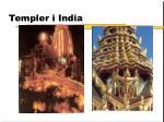 templer i india