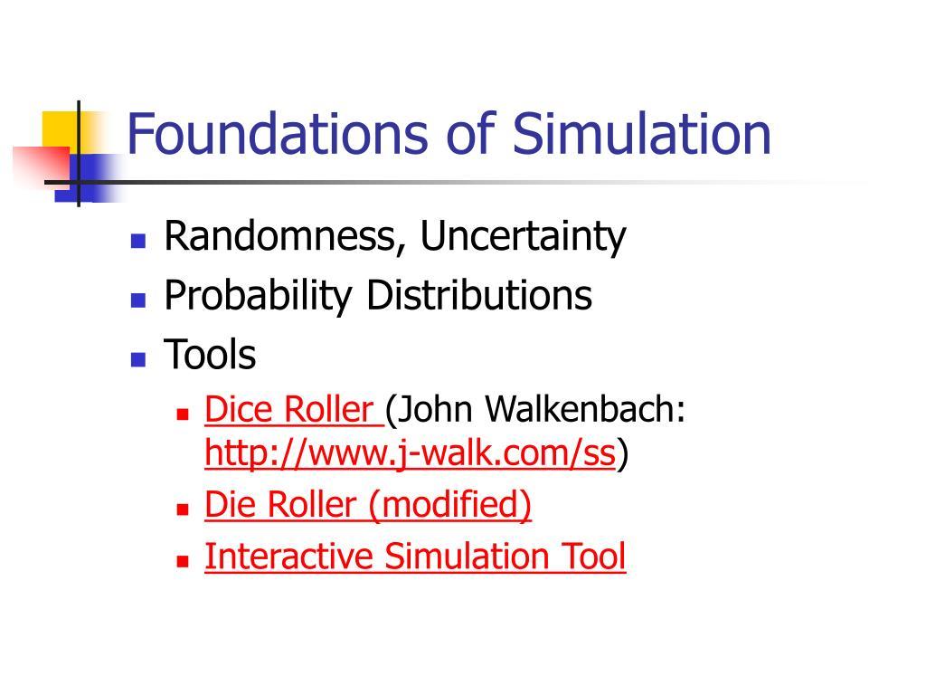 Foundations of Simulation