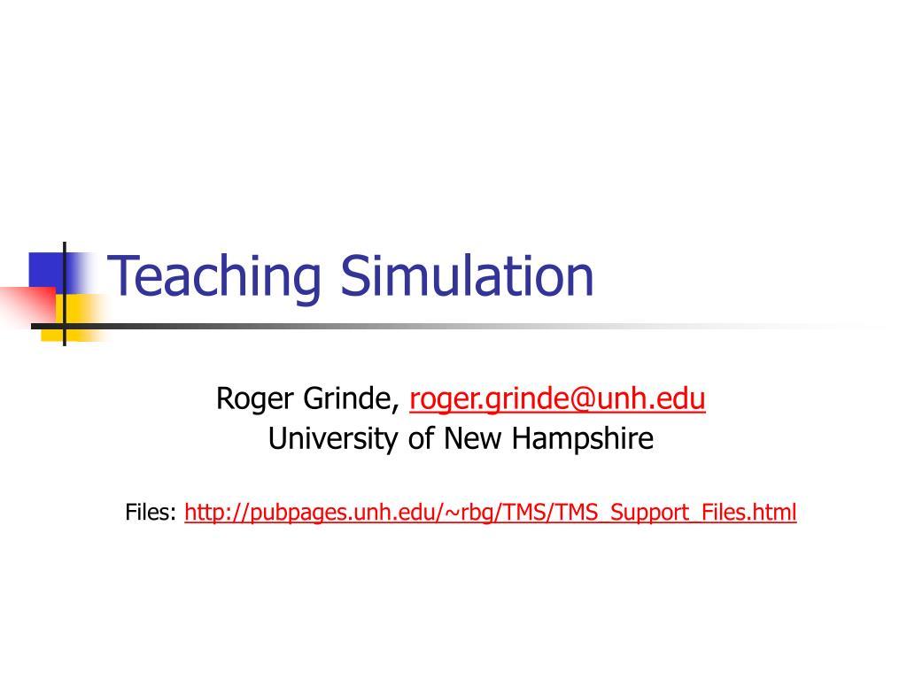 teaching simulation l.